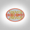 Cross Country Patch - Light Grey Orange