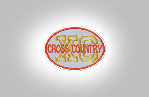 Cross Country Patch - Light Grey Orange