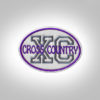 Cross Country Patch - LightGrey Purple