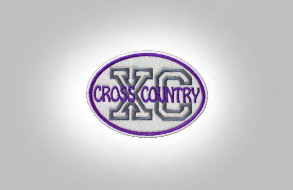 Cross Country Patch - LightGrey Purple