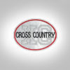 Cross Country Patch -Light Grey Red
