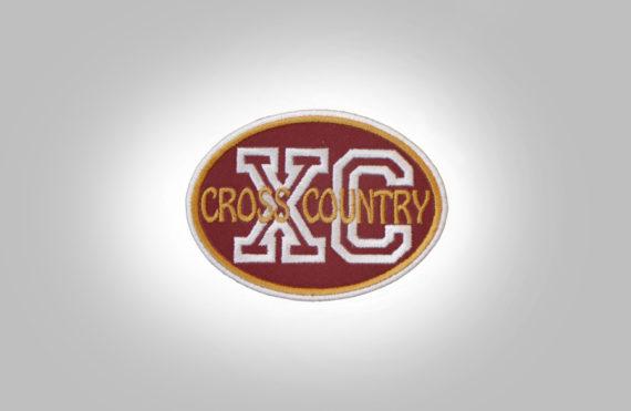Cross Country Patch - Maroon DarkMustard