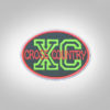 Cross Country Patch - Olive Neon