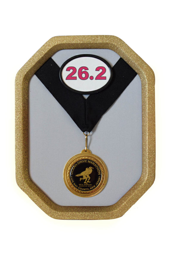 Gold Rally Medal Display Frame