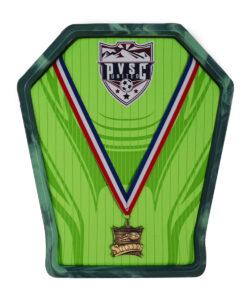 Green Soccer Versa Medal Hanger