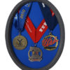 Oval Triathalon Medal Display