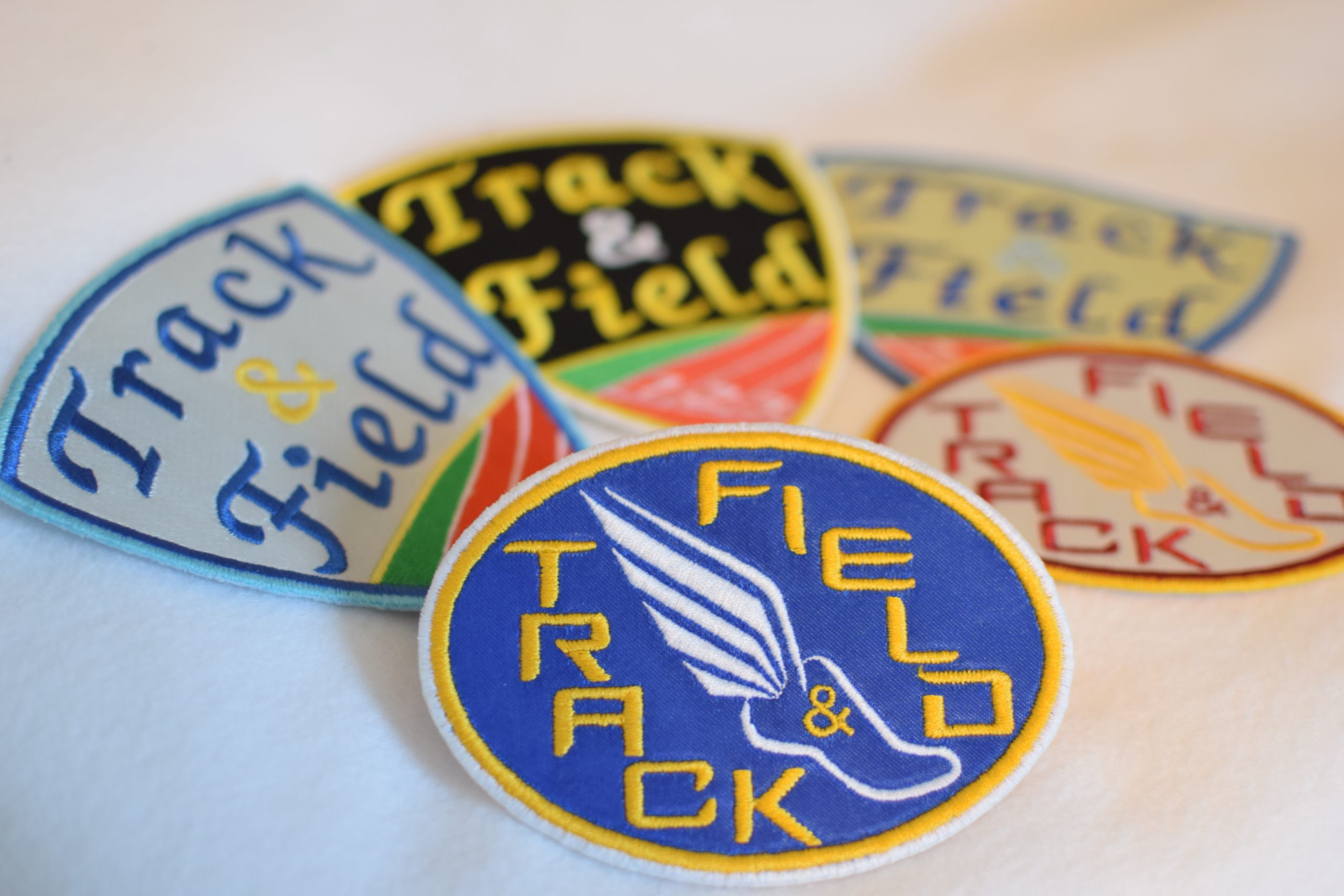 Track & Field Embroidered Patches